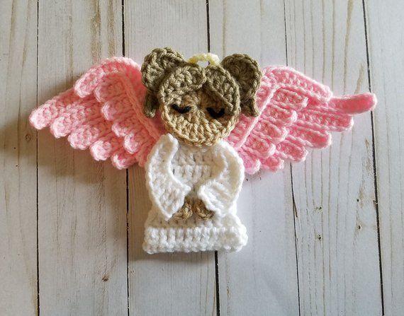 Sweet Angel Applique- Crochet Pattern Only- Angel- Angel Wings- Wings- Crochet Applique Pattern