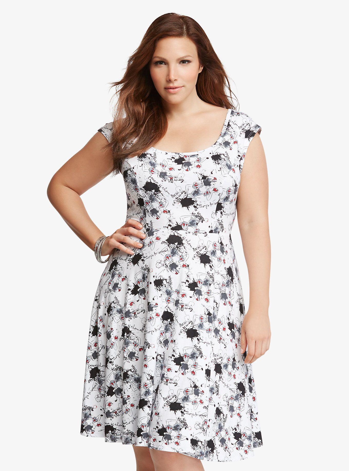 Dress size 24 torrid dress 24 torrid black and white draped v neck - Disney Snow White Print Skater Dress Torrid