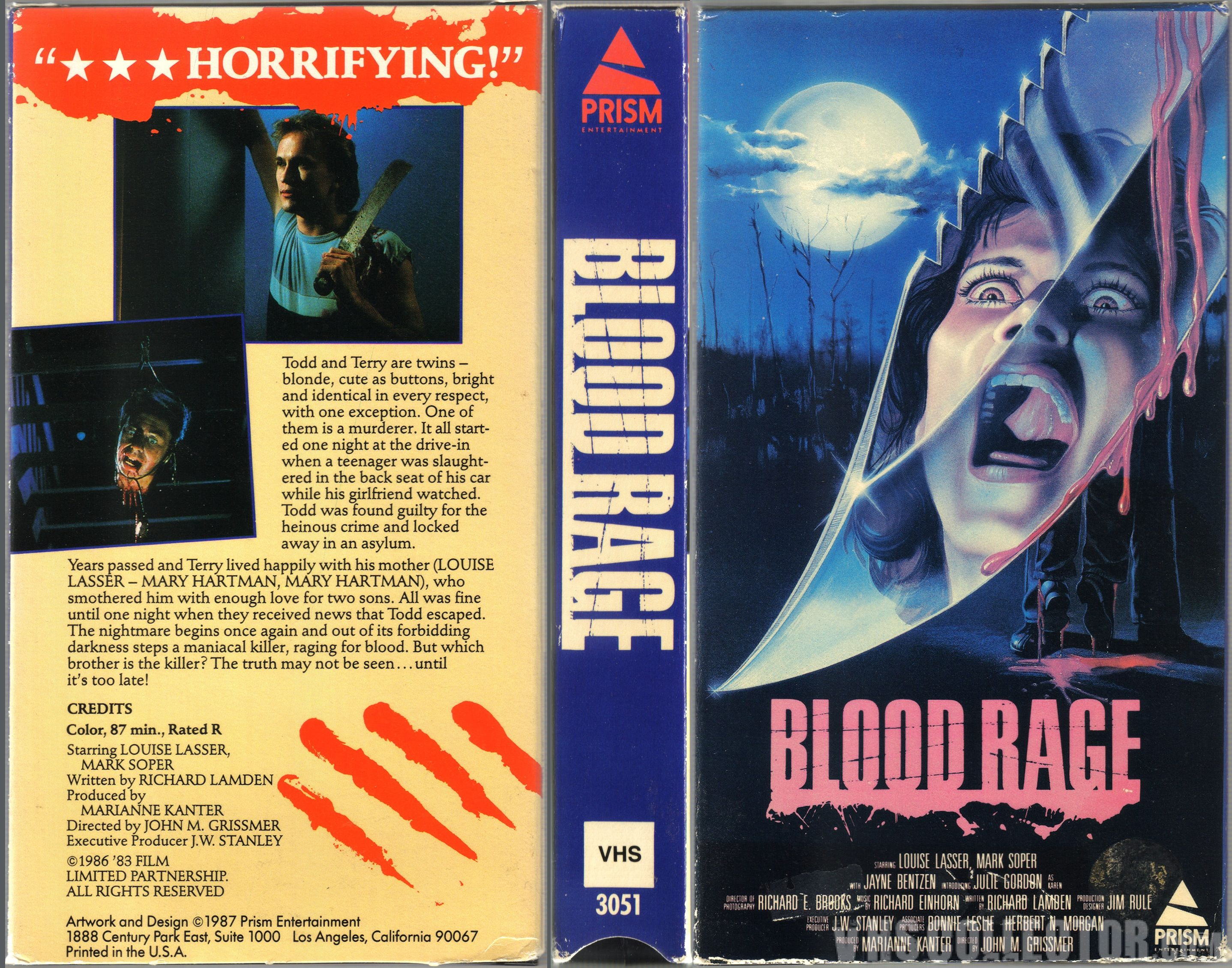 Vintage 80s Movie Poster Original 1982 Silent Rage Retro
