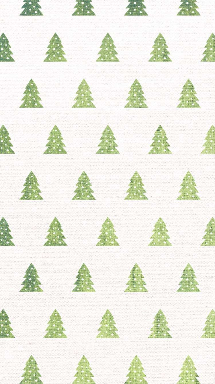 Christmas Tree Pattern iPhone Wallpaper