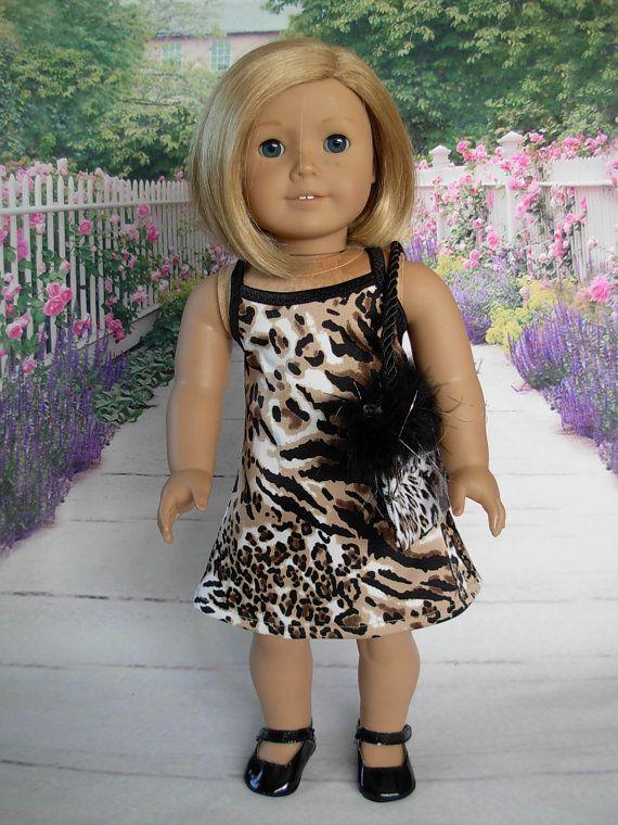 Animal Print Mini Dress fits American Girl by WeeWhimzyWardrobe ...