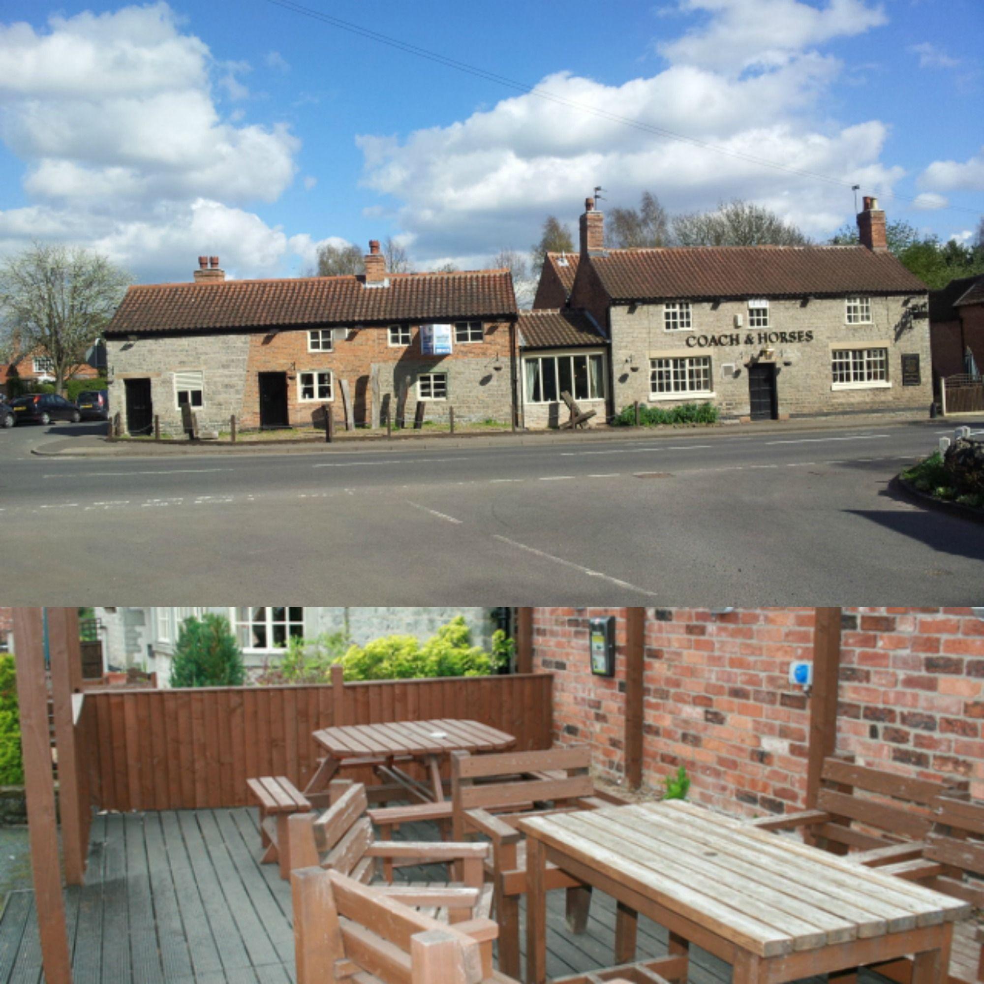 Nottinghamshire village, stone built inn. Garden with decking area.
