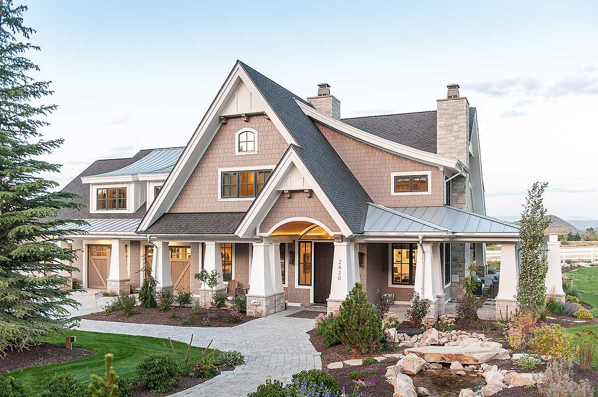 Plan 18295be Exclusive Luxury Craftsman With No Detail Spared Craftsman House Craftsman Style Interiors Craftsman Style Homes