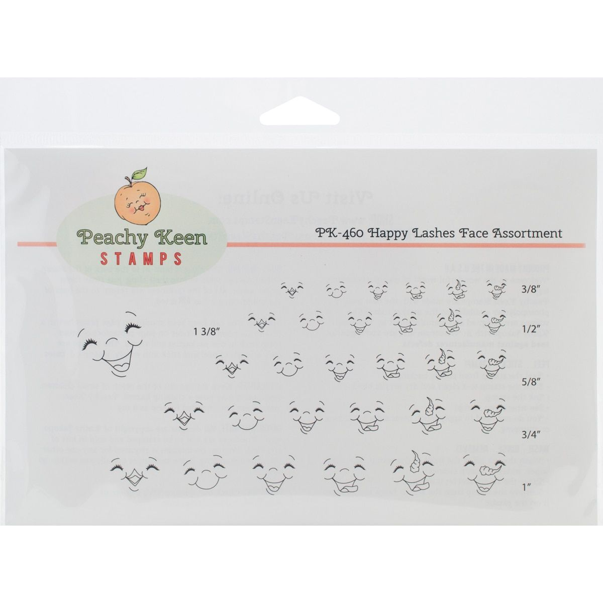 Peachy Keen Stamps Clear Face Assortment 31/Pkg-Happy Lashes