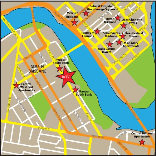 cool Brisbane Map Tourist Attractions Travelquaz Pinterest