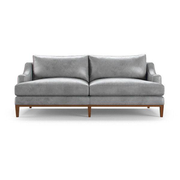 Joybird Furniture Price Mid Century Modern Purple Leather Loveseat 4 899 Liked On Polyvore