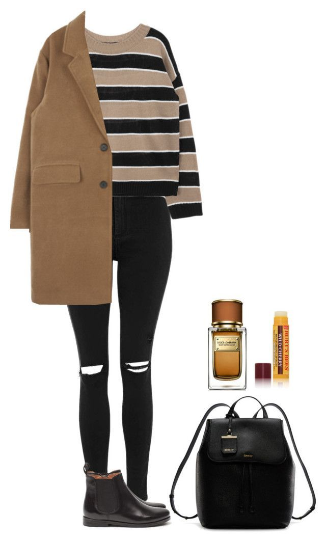 My Style by honeyaty ❤ liked on Polyvore featuring Topshop, MANGO, DKNY, Dolce&Gabbana, Burt's Bees, women's clothing, women, female, woman and misses #outfits4school