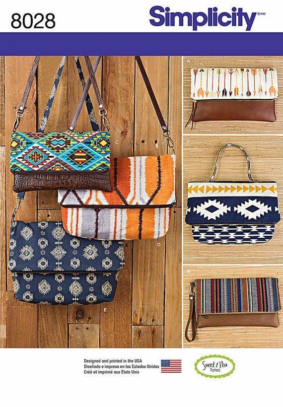 Small Cloth Bags Pattern, Clutch Bag Pattern, Wristlet Purse Pattern ...