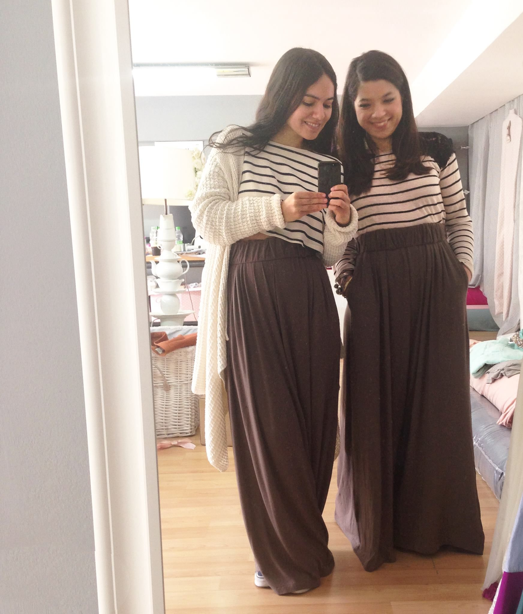 * SHOP ONLINE *  GENIE trousers is a must-have item in your closet!!!!  http://www.madameshoushou.com/E-Shop — with Urban Drops.
