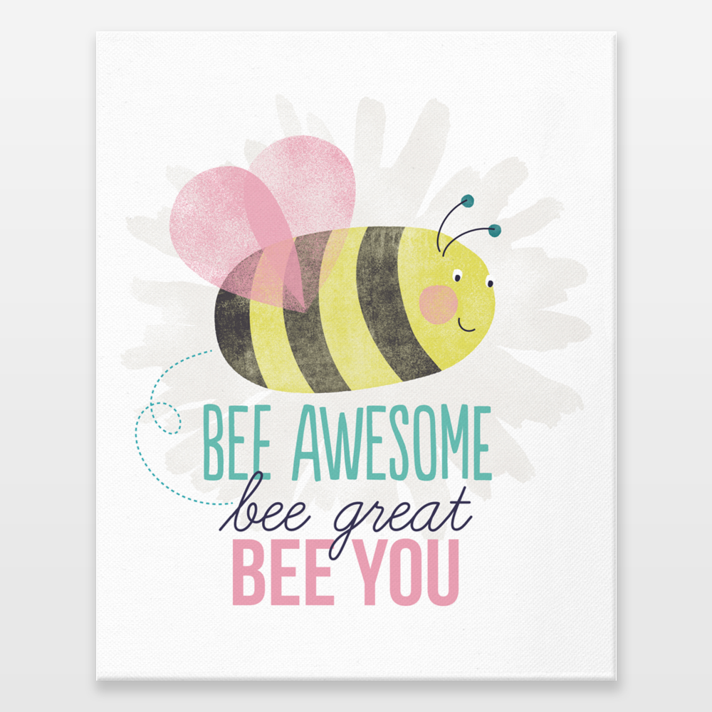 Fun Indie Art from BoomBoomPrints.com! https://www.boomboomprints.com/Product/zoedesigns/Bee_u/Wrapped_Canvas_Prints/8x10/