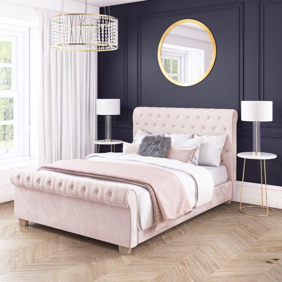 Pin by Ann Flynn on bedroom Pink headboard, Pink bedding