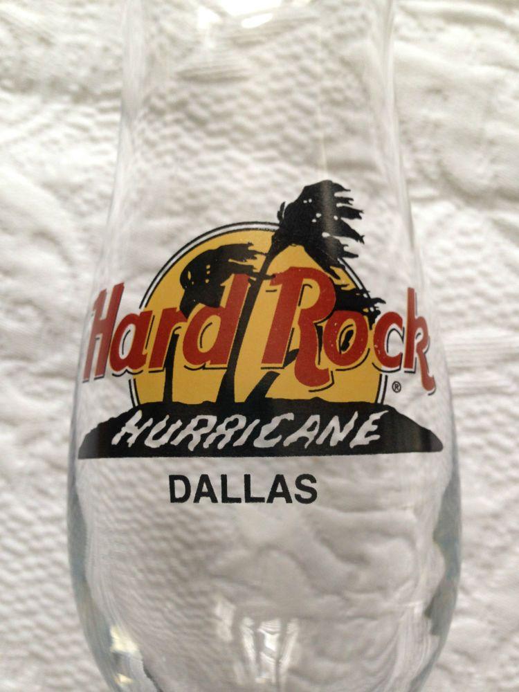RARE SIZE HARD ROCK CAFE HURRICANE GLASS DALLAS TEXAS TX