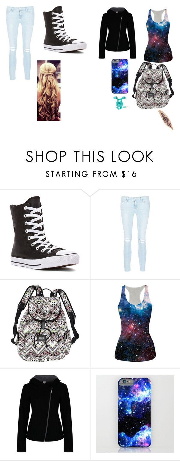 """""""day out"""" by alex-hayze on Polyvore featuring Converse, Frame Denim, Victoria's Secret and Bench"""