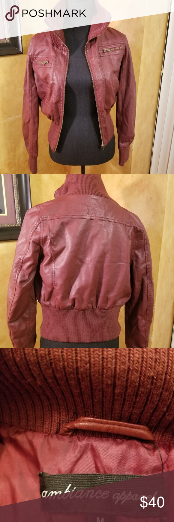 Ambiance Apparel Red Leather Bomber Jacket In 2021 Ambiance Apparel Leather Bomber Jacket Coats Jackets Women [ 1740 x 580 Pixel ]