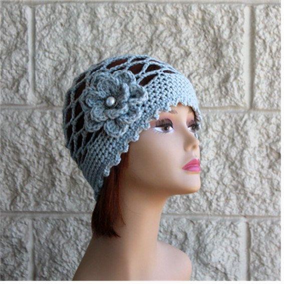 Summer Hat  Beanie  Silver Grey Beanie  Crochet by endlesscreation