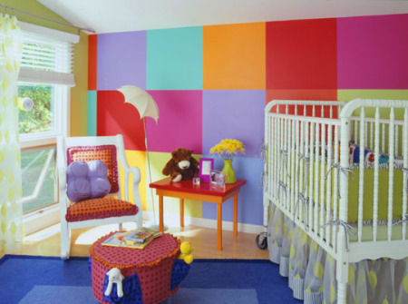 habitacion para nios con colores vivos