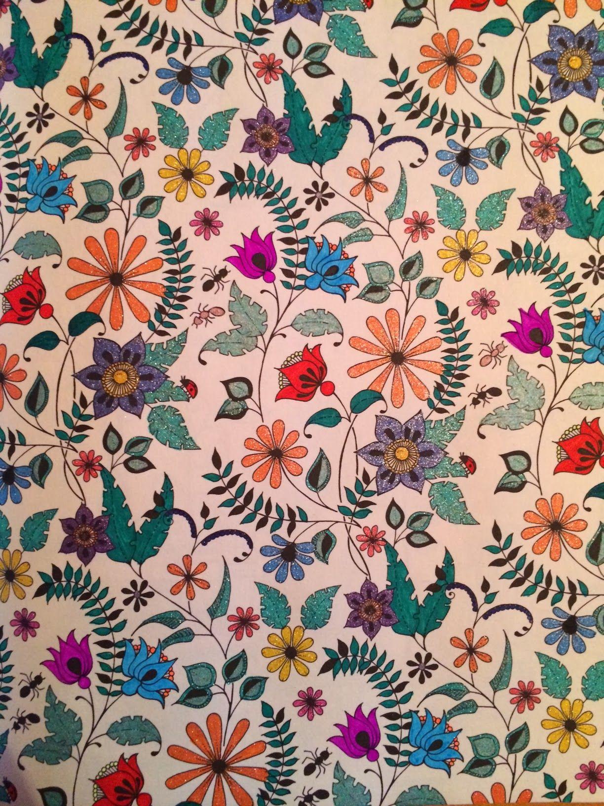 как раскрашивать раскраски | Secret garden coloring book ...