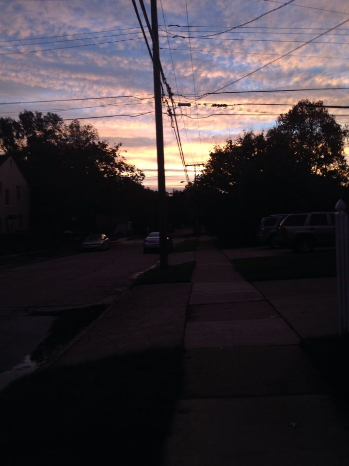 This is why I wake up early to bike to school