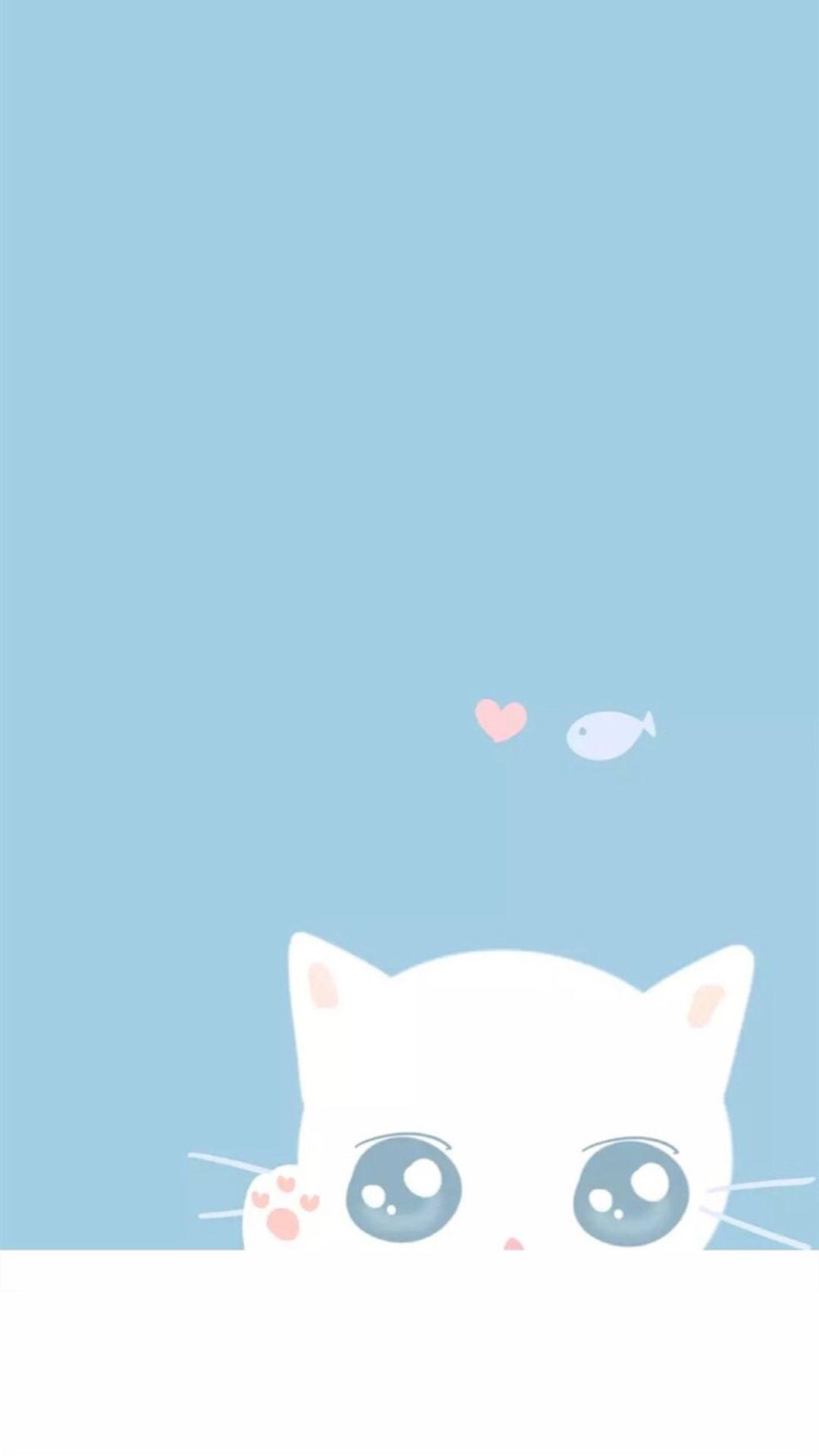 Blue Wallpaper Cute Cat Pictures