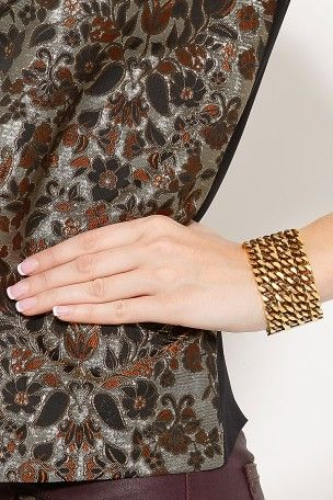 Large Chainmail Cuff by LIZZIE FORTUNATO JEWELS