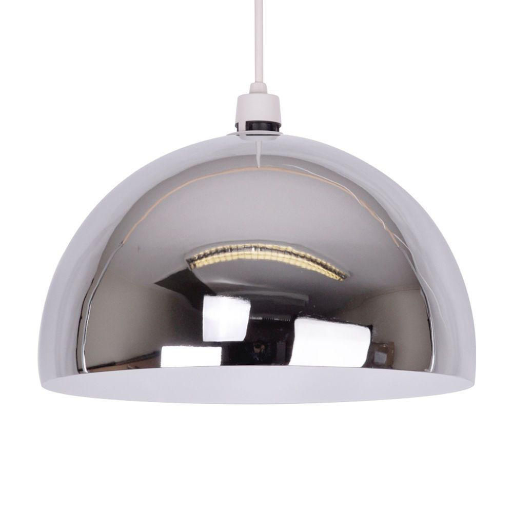 Modern silver chrome ceiling pendant light lamp shade fitting modern silver chrome ceiling pendant light lamp shade fitting lampshade lights aloadofball Gallery