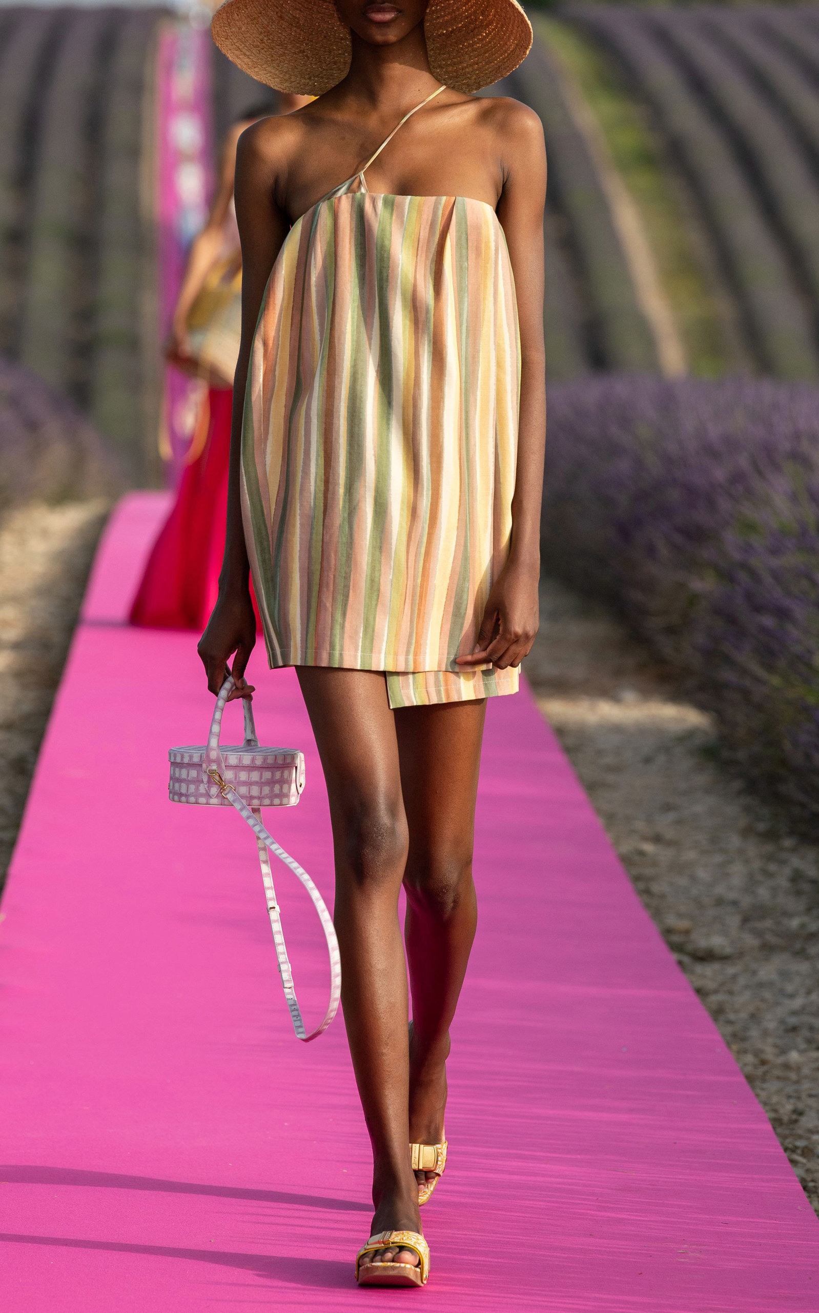 Jacquemus La Boite Checked Leather Bag In Pink Modesens