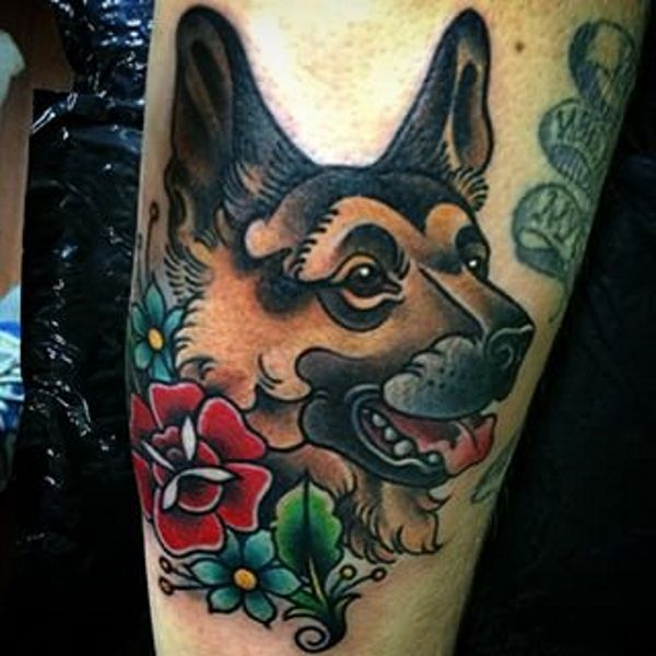 German Shepherd Tattoo Design Ideas