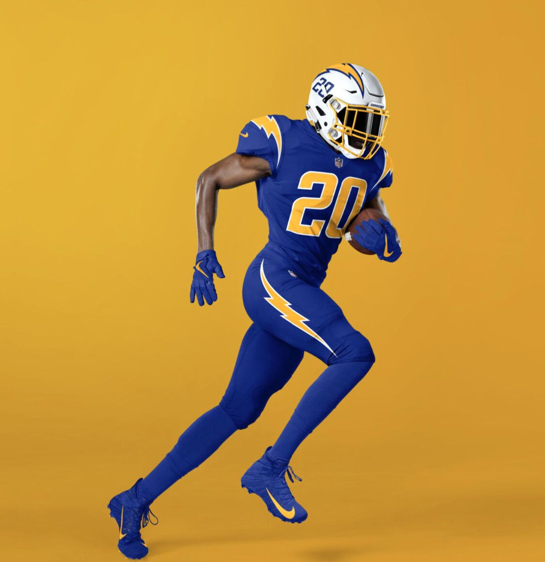 Los Angeles Chargers New Uniforms Uniswag In 2020 Los Angeles Chargers Color Rush Uniforms Rams New Uniforms