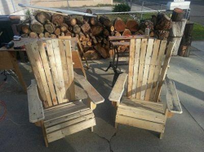 C mo hacer una silla de palets con brazos handspire cosas en pallet o madera pallet - Como hacer sillas con palets ...