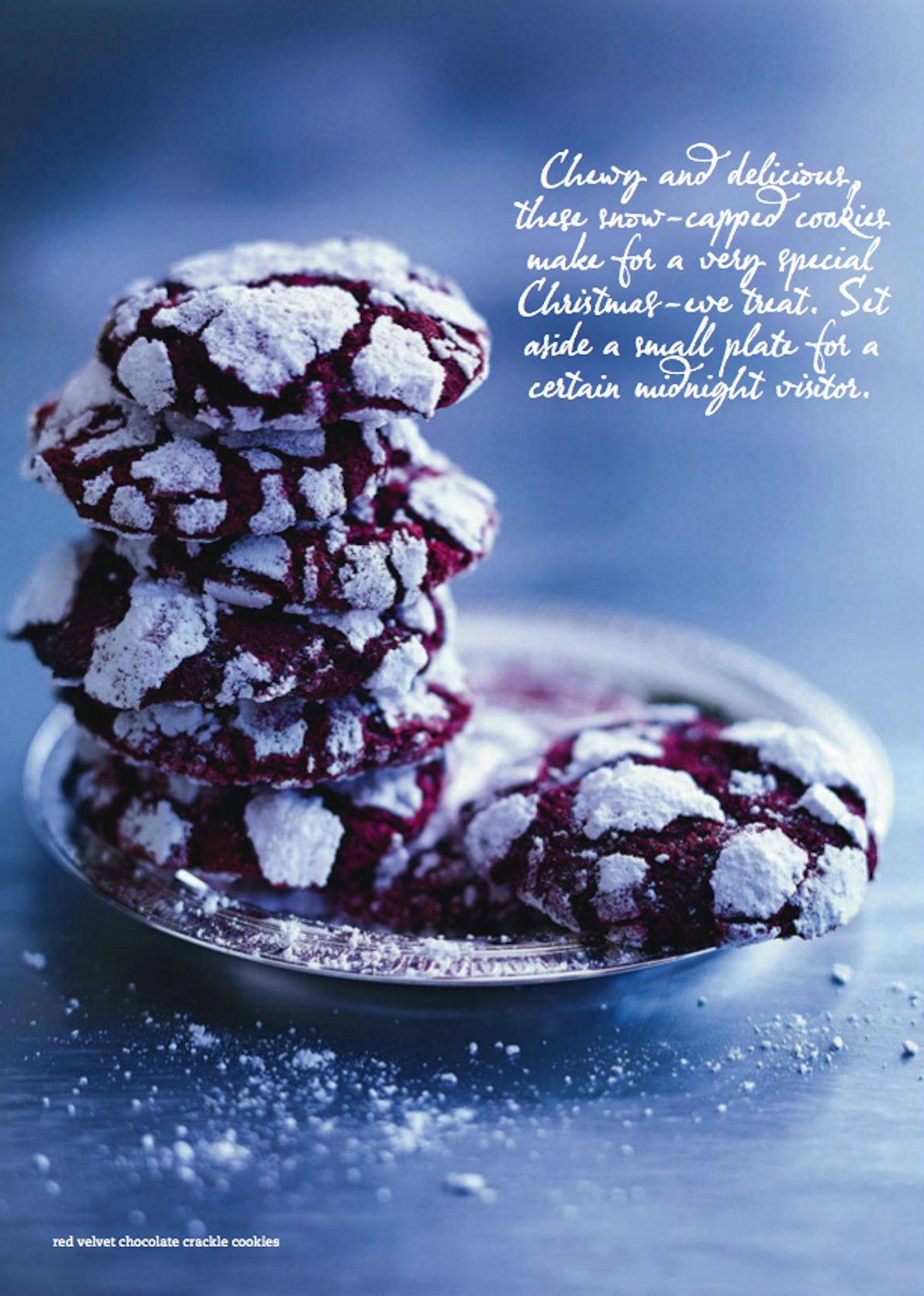 red velvet chocolate crackle cookies. jan 2014 donna hay | Yummy ...