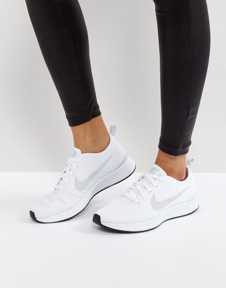 Buy it now. Nike Dualtone Racer Trainers In White - White. Trainers by Nike