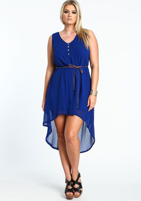 Plus Size Sleeveless High Low Dress From Love Culture Fashion