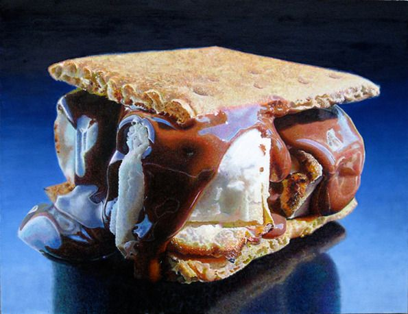 #Hyperrealism - Mary Ellen Johnson: Big Smores, 2010 #hyper #photorealistic #paintings #art