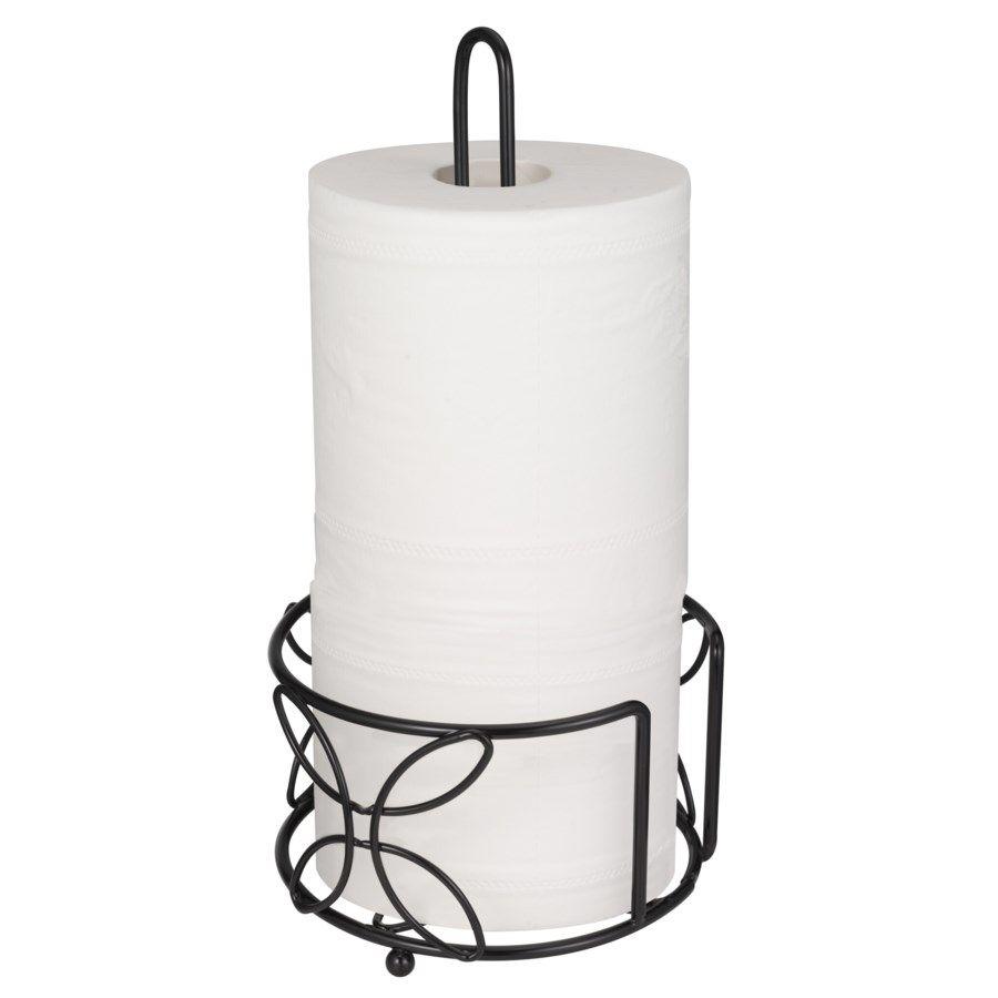 A & E Imports Black - Paper towel Holder -