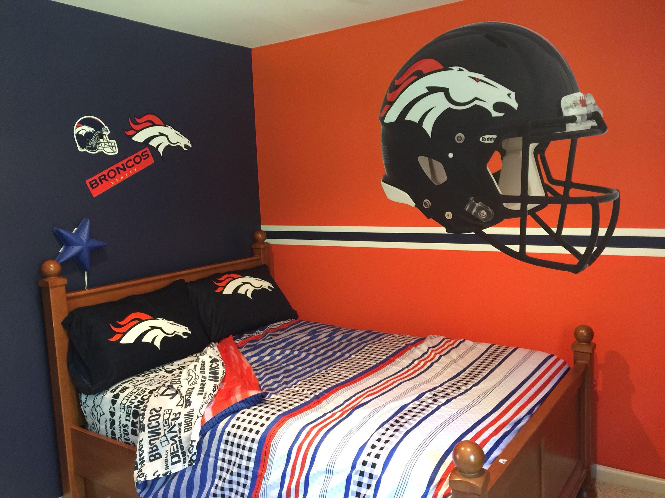 Chad\'s Denver Broncos bedroom | Broncos | Pinterest | Vida nueva y Vida