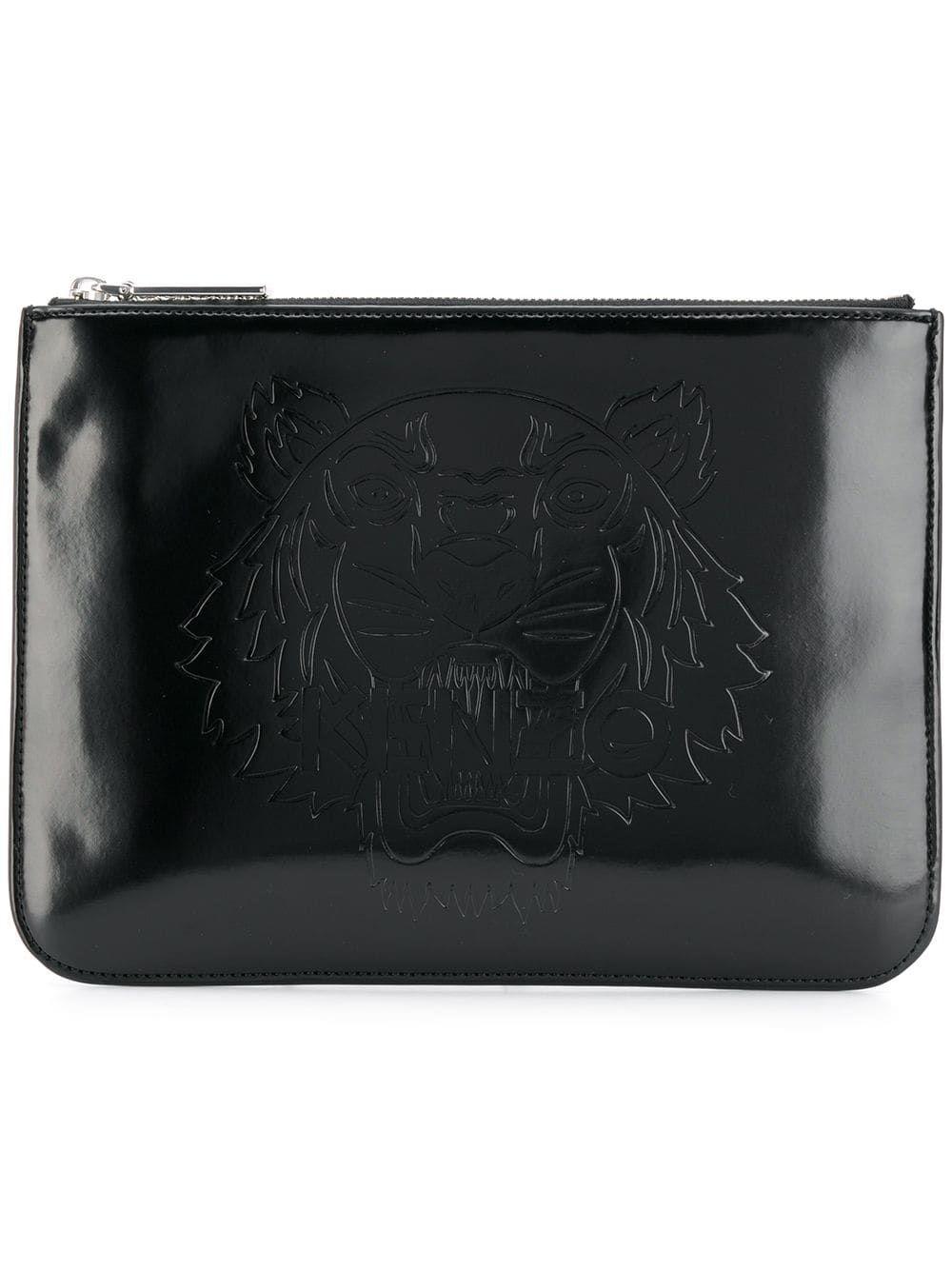 42a9badd7c Kenzo tiger logo clutch bag - Black   Products in 2019   Clutch bag ...