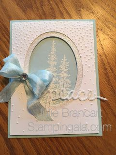 Dove of Peace, elegant Christmas Card, Stampin Up