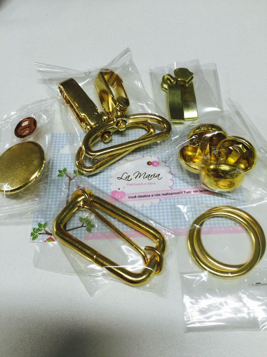 5c5e1c6301 Elo7-Kit ferragens douradas lamariapatchwork