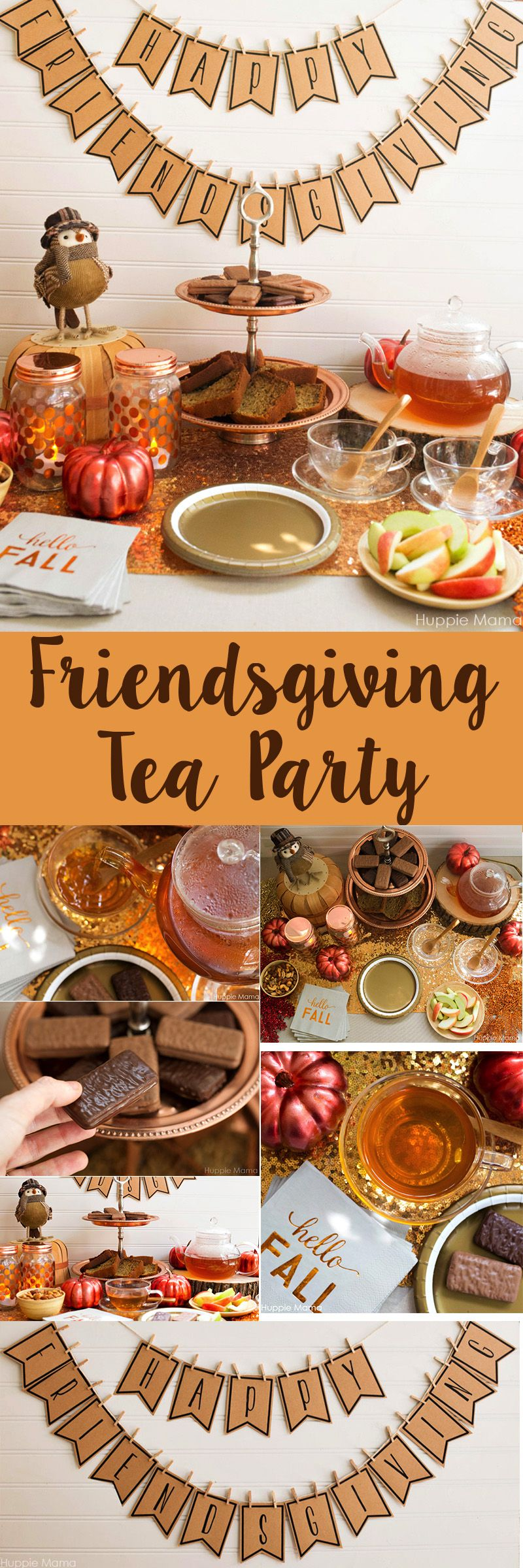 Enjoy This Pre Thanksgiving Friendsgiving Tea Party, With A Printable Banner