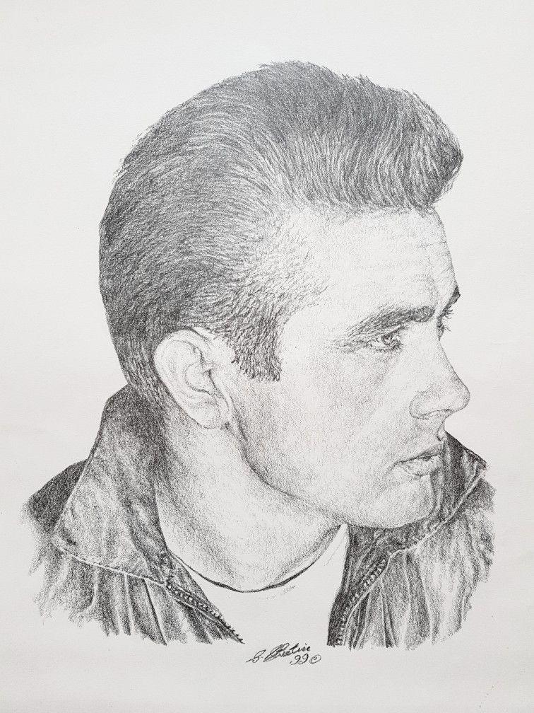James Dean In Pencil By Steven Streetin Zeichnungen Zeichnung Zeichnen