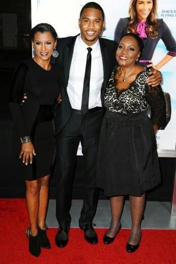 Trey Songz his mom April and his grandma Rose