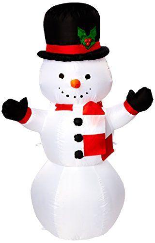 Gemmy 111377 Puffy Parka Snowman Christmas Inflatable Christmas