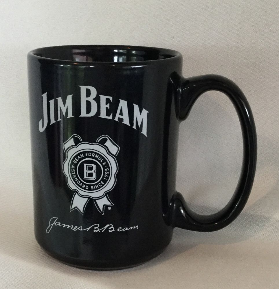 Jim Beam Black Coffee Cup Mug White Design Of Logo And