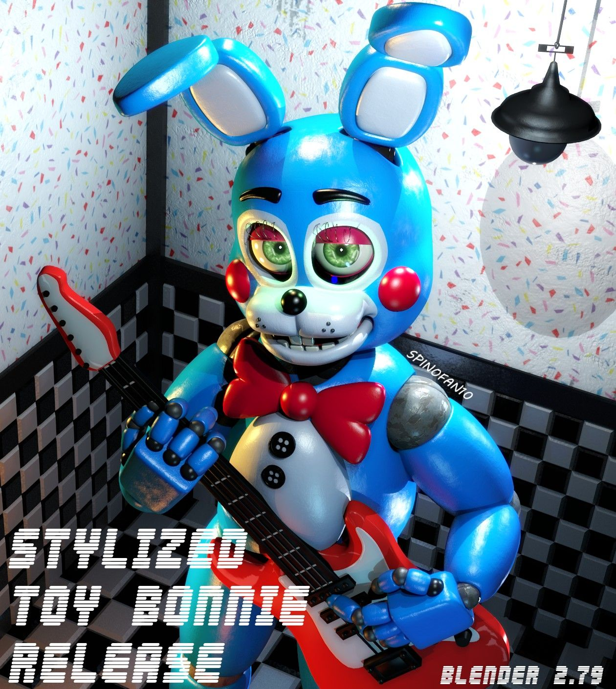 Stylized Toy Bonnie Release Anime Fnaf Fnaf Drawings Fnaf Wallpapers