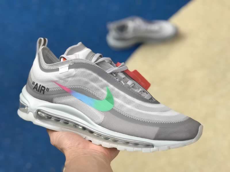 Off White X Nike Air Max 97 Green Grey Mens Womens Shoes Aj4585 012 Nike Air Max 97 Nike Women Shoes Air Max Nike Air Max
