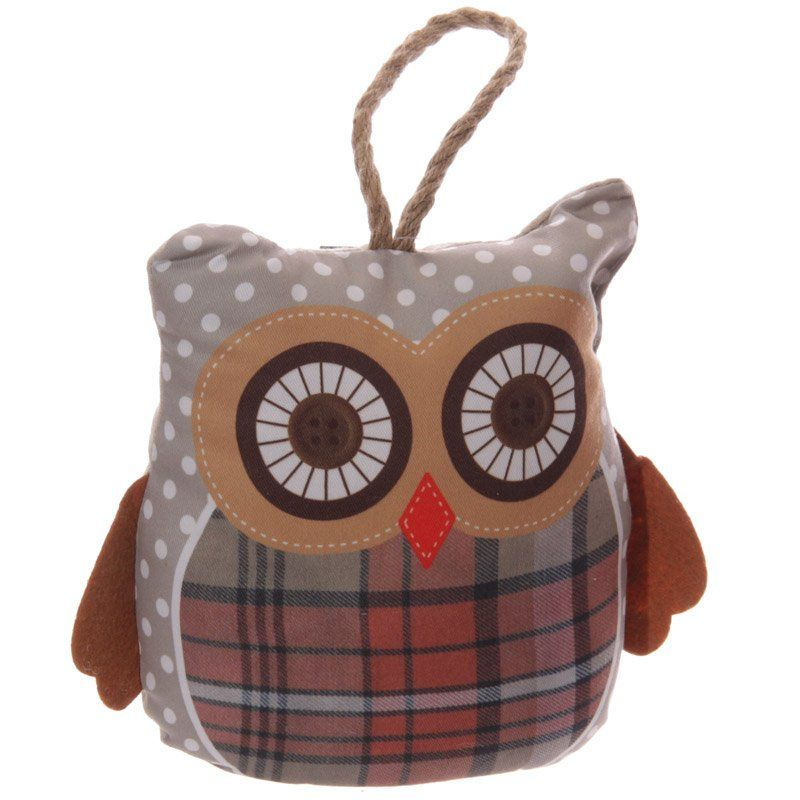 Cute Grey Owl Shaped Polyester Door Stop Add Colour Design And