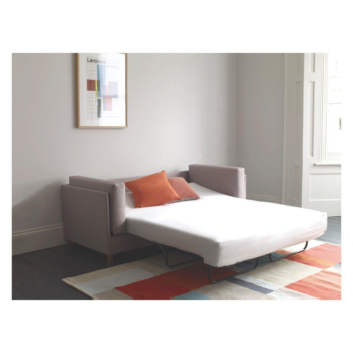 COLOMBO Grey fabric 3 seater sofa bed Grey fabric Fabrics and