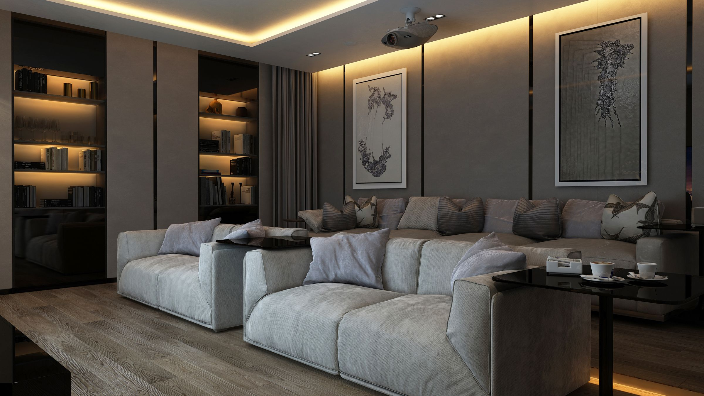 Design project cinema room interior