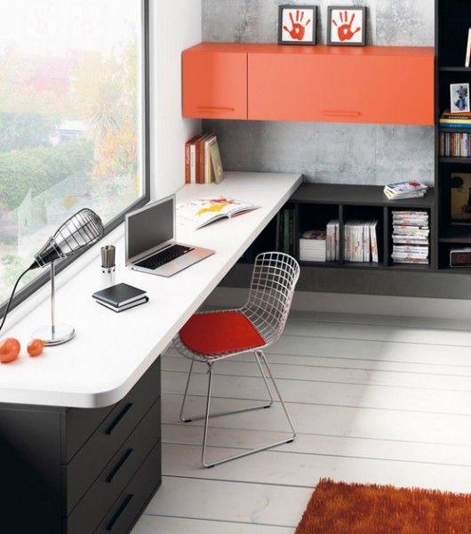 Mesa de escritorio canto redondeado escritorios - Mesas estudio juveniles ...