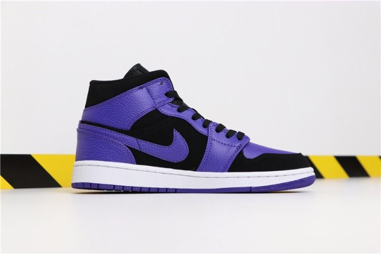 5ce2ef0cec0 Air Jordan 1 Mid Black Purple Toe Shoes Best Price2 | Air Jordan 1 ...